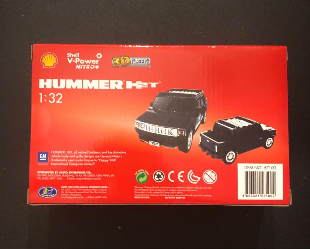 Shell V-Power Hummer H2T 3D Puzzle Model