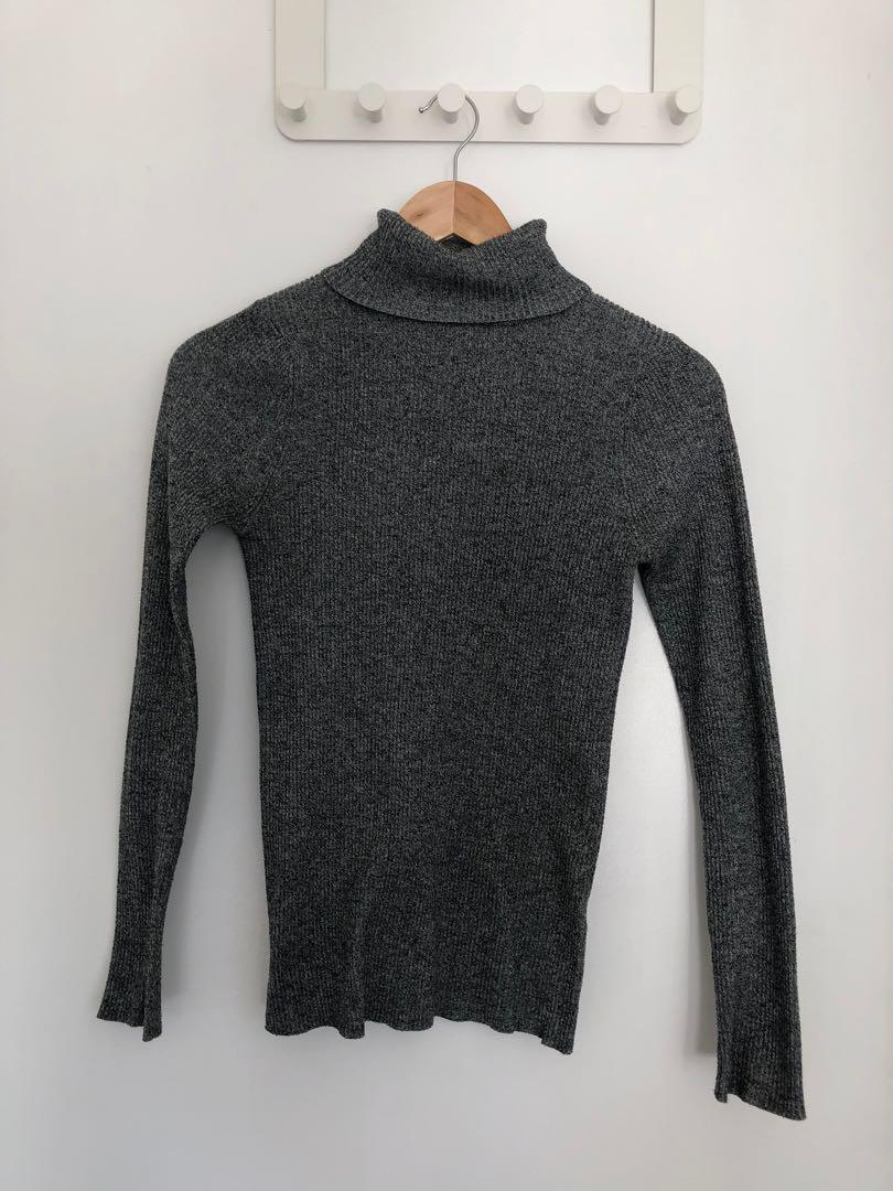 Supre Grey Ribbed Turtleneck