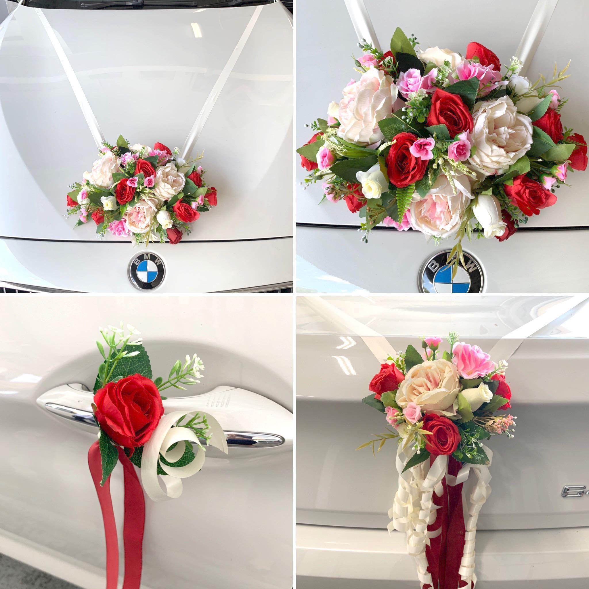 Synthetic Wedding Car Corsage