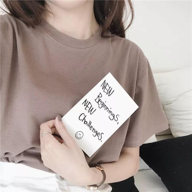 (現貨/預購)素面百搭圓領T恤
