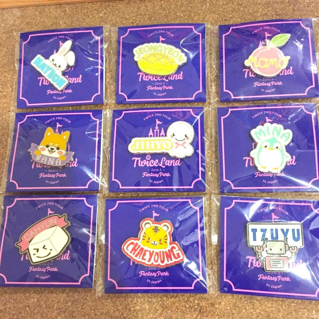 TWICE FANTASY PARK ZONE2 PIN BADGE NAME PLATE OFFICIAL JAPAN GOODS