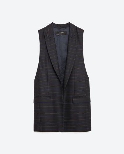 Zara Sleeveless Pinstripe Vest