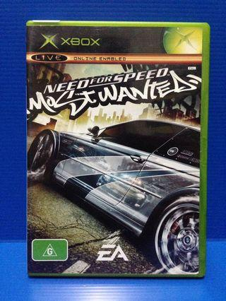 Need for speed most wanted ( xbox 1st gen )