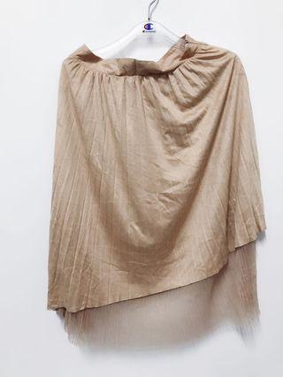 🚚 麂皮蕾絲裙-全新