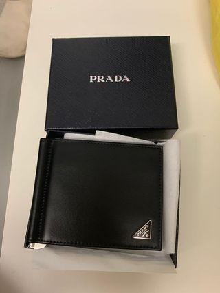 Prada men wallet with money clip