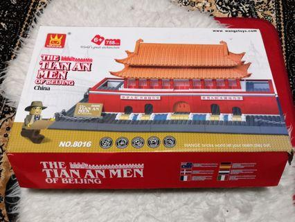 WANGE Wan Ge Tiananmen Square Beijing Large Action Building Bricks Sets Model Kits 758PCS Architecture Series Kids Educational Toys, bricks world