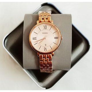 🎆SUPER OFFER🎆Fossil Jacqueline Rose Gold Stainless Steel Ladies Watch