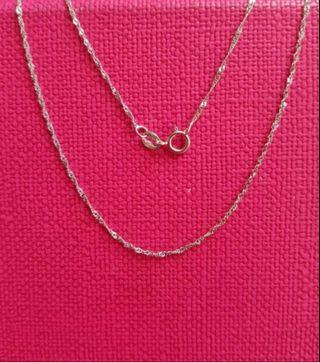 "18K750 White Gold Necklace 16""Long❤ NEW❤ Italy Gold 18K750白金頸鍊"