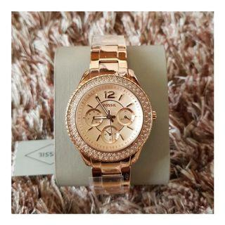 🎆SUPER OFFER🎆Fossil Stella Multifunction Rose Gold Stainless Steel Ladies Watch