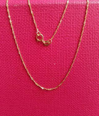 "14K585  Yellow Gold Necklace 16""long ❤ NEW❤ Italy Gold 14K585 黄金頸鍊"