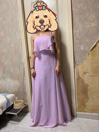 全新淺紫姊妹/伴娘裙