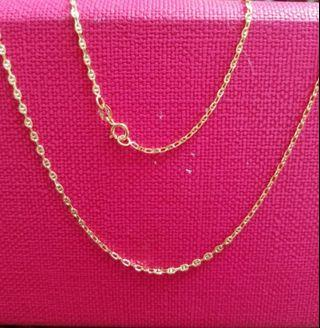 "18K750 Yellow Gold Necklace  24""long❤New❤Italy Made 18K750 黃金意大利頸鍊"