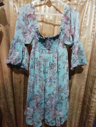 Dress flower blue