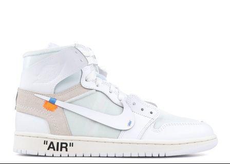 Offwhite Air Jordan 1 white