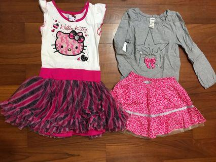 4yo Sanrio and Osh Kosh Bundle