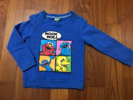 Authentic Sesame Street Pullover 2-4yo