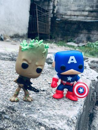 Groot and Captain America