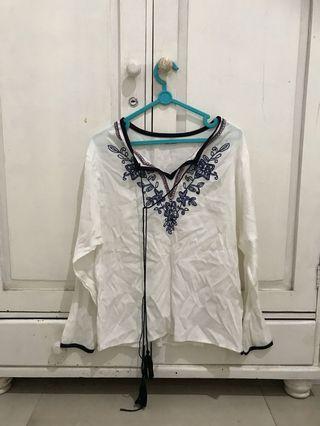 White boho Shirt
