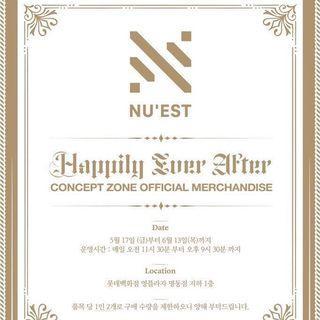 [EMS PO] Nu'est Happily Ever After Concept Zone Official Merchandise