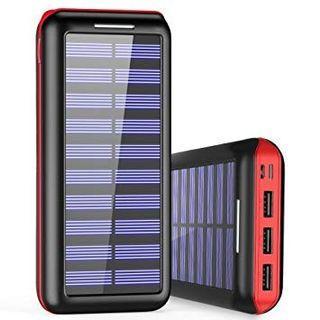 BERNET 24000mAh Solar Powerbank Quick Charge 2.4A