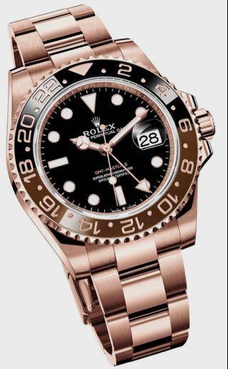 Rolex Rootbeer Full Rosegold GMT Master II