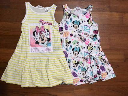 🚚 Minnie Mouse H&M Girl Dress Bundle 4-6yo