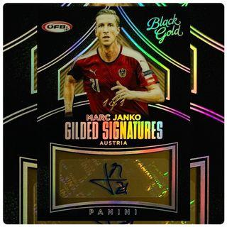 2016 Panini Black Gold Soccer Marc Janko Gilded Signatures Black Gold Parallel Autograph Card 1/1