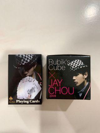 Collectable Jay Chou Rubik Cube & Playing cards