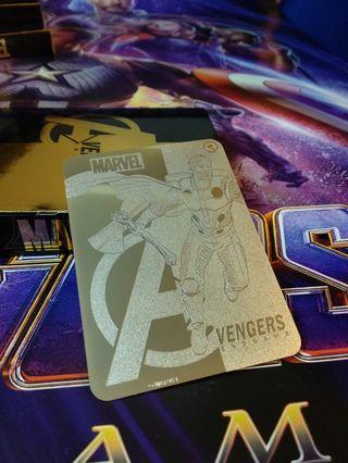 最後一套!Thor Marvel Avengers: Endgame 限量紀念版24k鍍金金卡
