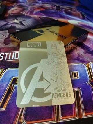 最後一套!Black Widow Marvel Avengers: Endgame 限量紀念版24k鍍金金卡