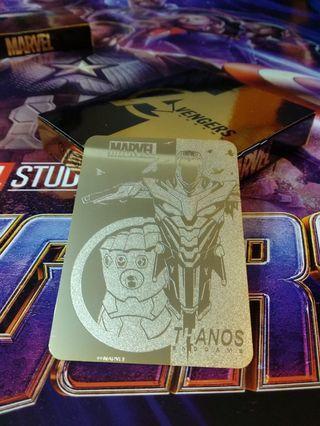 最後一套!Thanos Marvel Avengers: Endgame 限量紀念版24k鍍金金卡