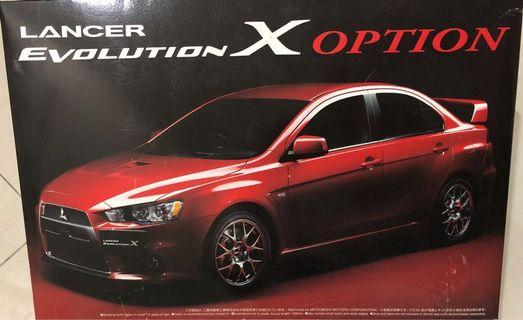 Aoshima Model Kit - 1/24 Mitsubishi Lancer Evo Evolution X 10 (2007)