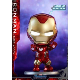 最後一個 HOTTOYS COSBABY Iron man Ironman 發光 眼部發光 mk85 mark85 mark mk 85