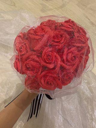 番梘玫瑰花永生花