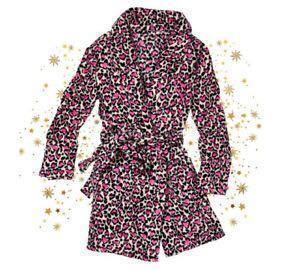Victoria's Secret Heart Leopard Print Robe (XS/S)