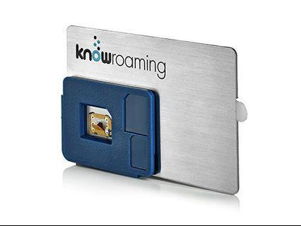 KnowRoaming Global SIM Sticker