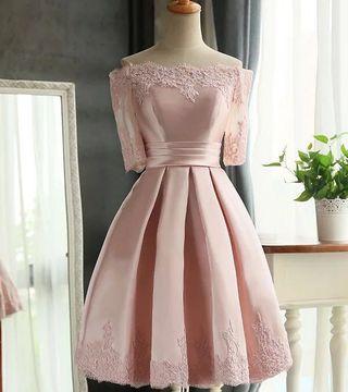 [ NEW ] Pink elegant classic dress