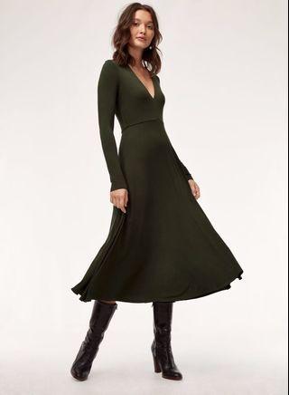 Wilfred aritzia cyra dress (black)