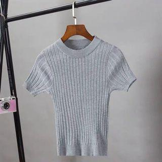 Grey knitted Top