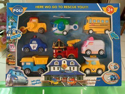 🚚 全新 波力玩具車8件組