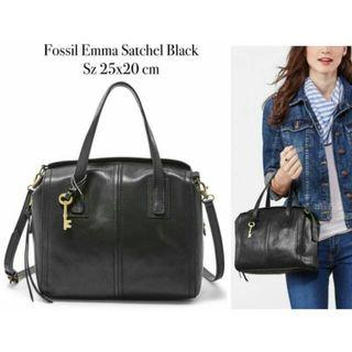 Fossil Bag Emma Satchel Black