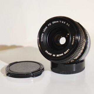 CANON LENS FD 28mm f2.8 S.C.