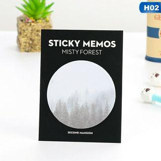Natural memo pad for bookmark (notepad)