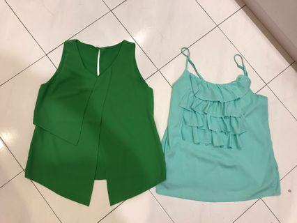 Brand new green top