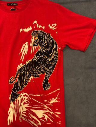 🚚 (店面現貨秒發)老虎 中國傳統 英雄 避邪 開運 短袖T恤
