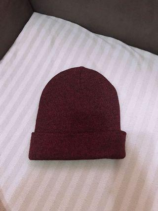 🚚 質感超好的毛帽 酒紅色 男女可戴