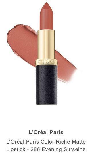 L'Oréal Paris Color Riche Matte Lipstick - 286 Evening Surseine