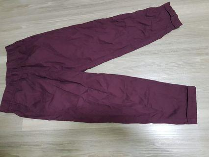 Selling pants to volunteer for a monastery.