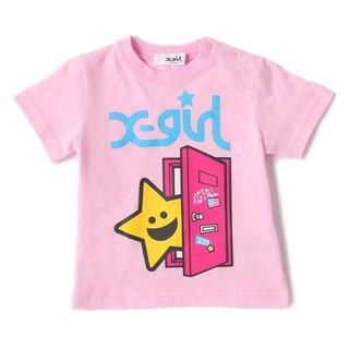 X-Girl stages 粉紅色T-shirt