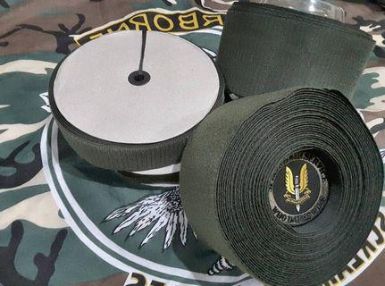 MILITARY/TACTICAL GREEN VELCRO HOOK AND LOOP 4INCH FREE 2 INCH